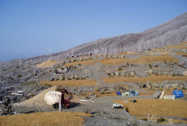2006年雄山荒廃地緑化試験区域